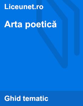Arta poetica | Exemple de poezii