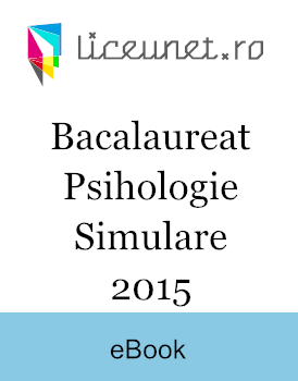 Bacalaureat Psihologie | 2015 Simulare