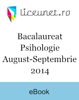 Bacalaureat Psihologie | 2014 august-septembrie