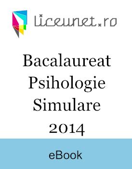 Bacalaureat Psihologie   2014 Simulare