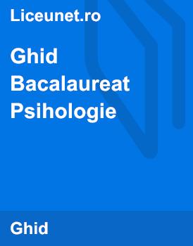 Ghidul Bacalaureatului la Psihologie