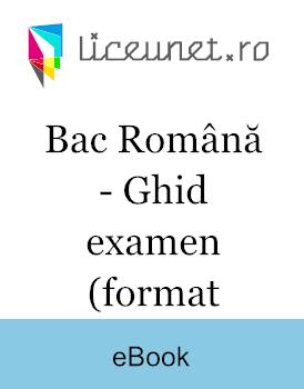 Subiectul I Bac Română - Ghid pentru examen
