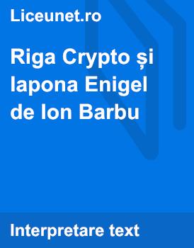 Riga Crypto și lapona Enigel